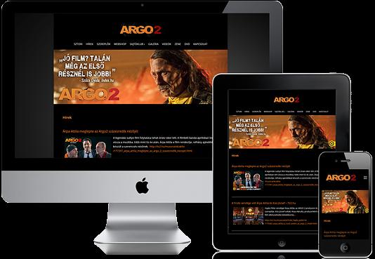 Siteice honlapkészítés- Argo 2