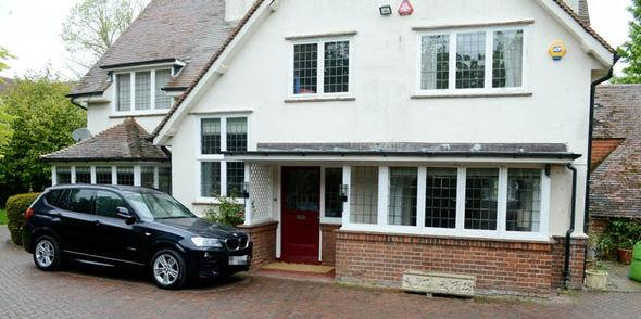 The front of the couple's £1.5m home in Hertfordshire.jpg