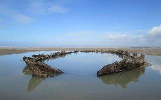The newly protected Westward Ho! Wreck on Northam Burrows Sands.jpg